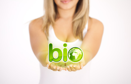 Woman hands holding ECO sign